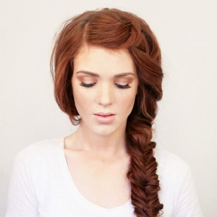 фото на волосы на длинные прически коса бок
