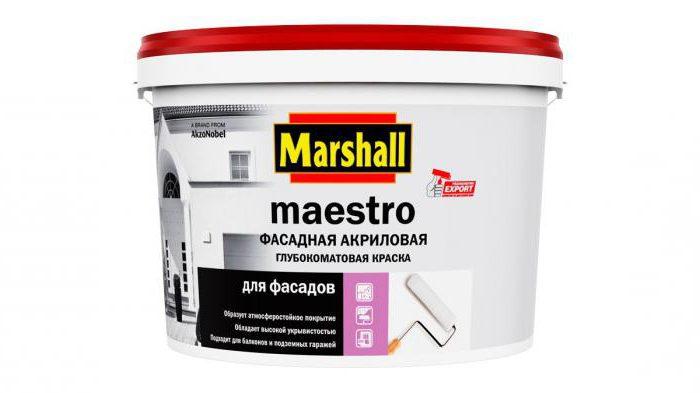 краска для потолка маршал
