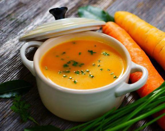 морковный суп пюре кулинарный рецепт