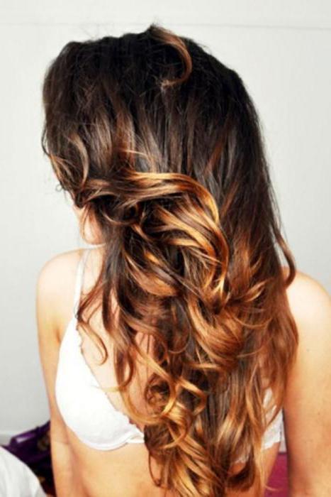 Окрашивание волос: омбре брюнеток