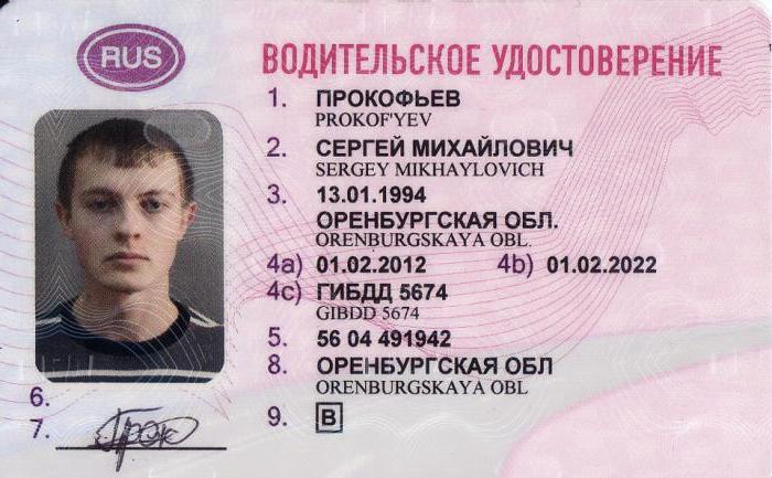 Где находится водительское удостоверение