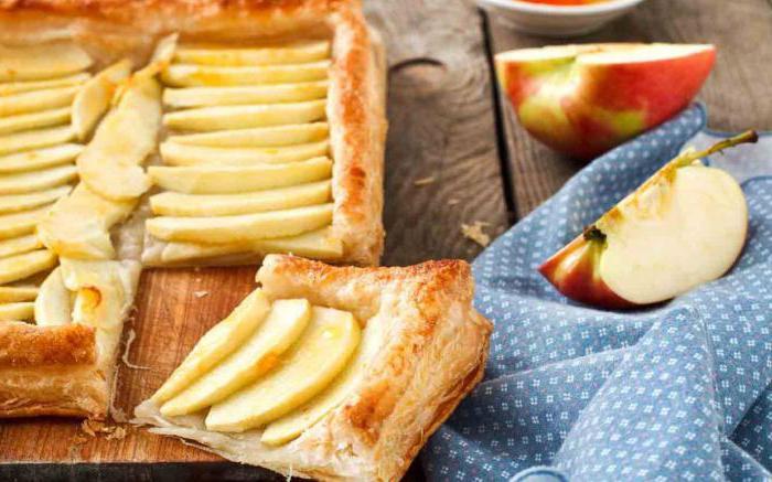 Рецепты бездрожжевого слоеного теста с яблоком рецепт