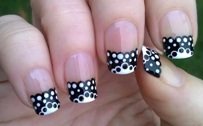 маникюр черные ногти