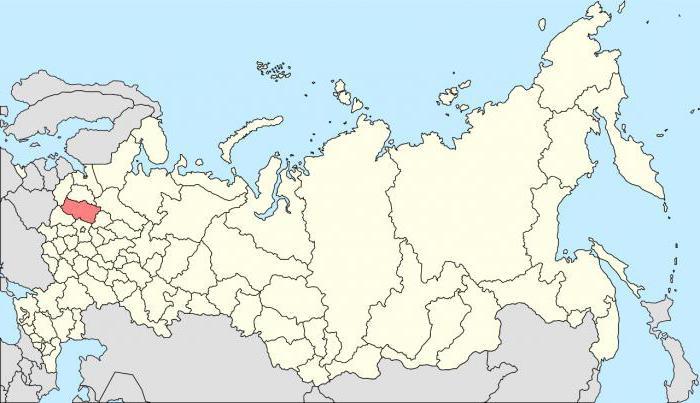 площадь Тверской области