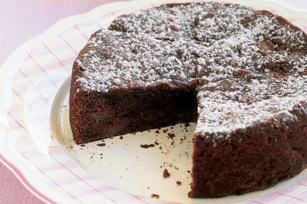 шоколадный пирог на кефире рецепт с фото