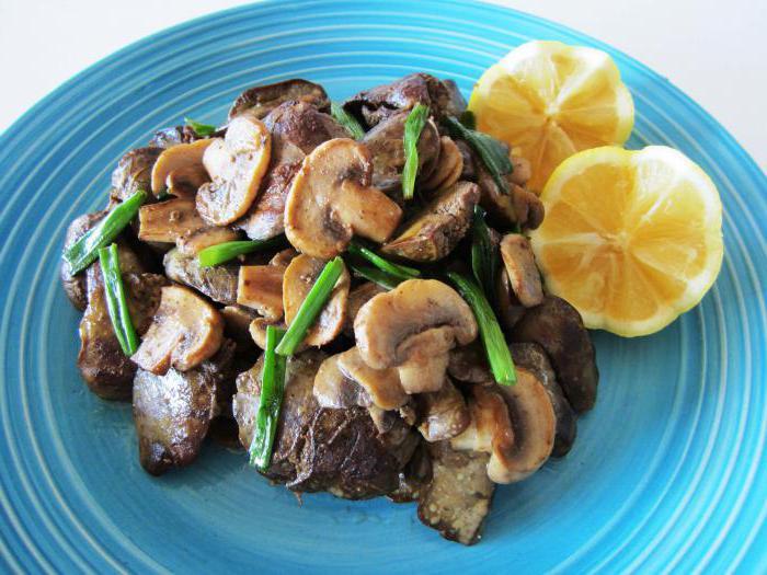 ваш рецепт приготовления печенки с грибами среднюю дневную зарплату