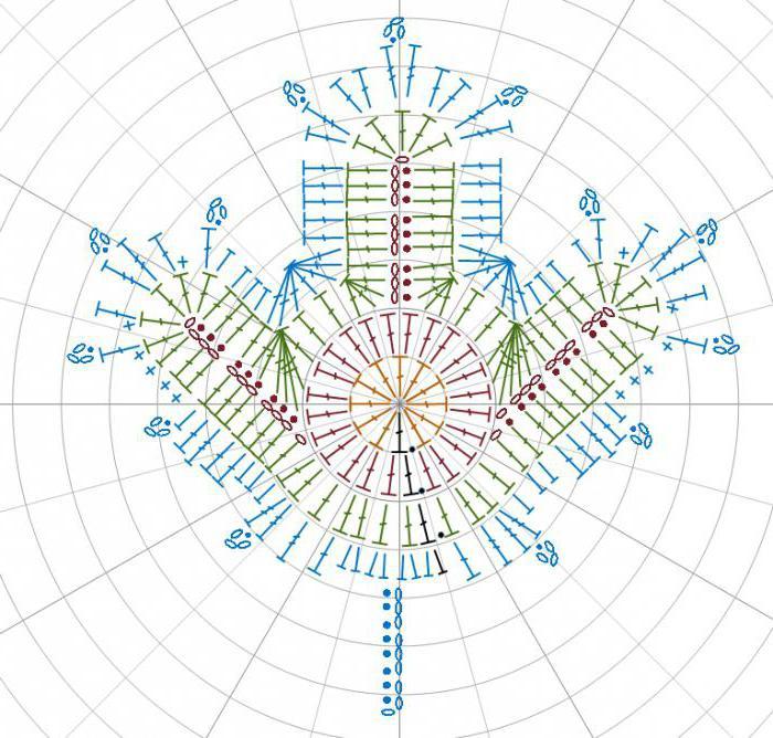 Вязание крючком кленового листа схемы 90