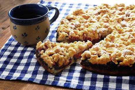 Тертый пирог с сливами рецепт с