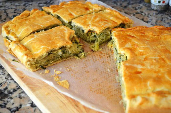пирог с капустой простой рецепт в духовке