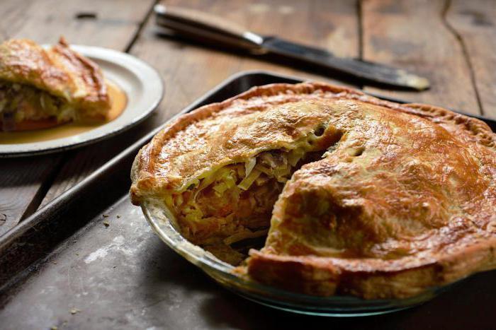 пирог с капустой простой рецепт