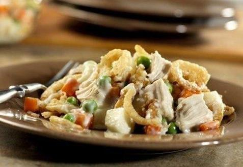 "Салат ""Обжорка"" рецепт с курицей рецепт с фото"