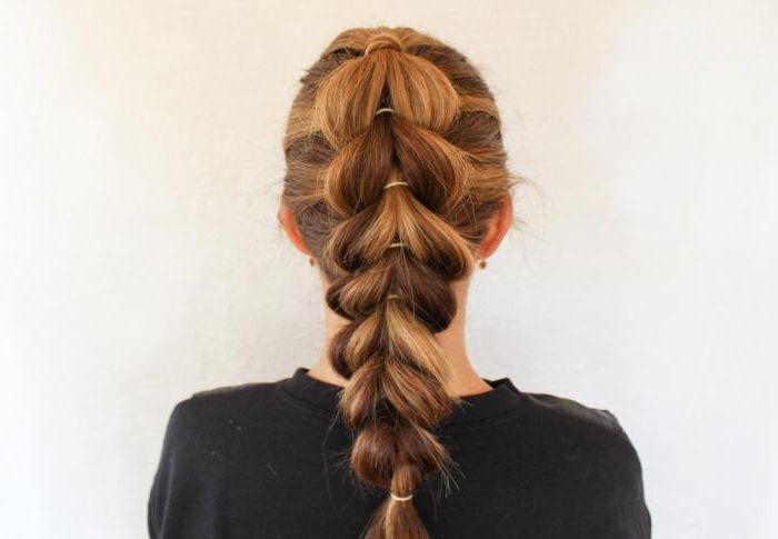 Французская коса без плетения