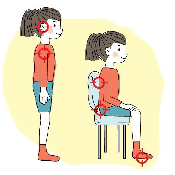 упражнения для формирования правильной осанки у детей