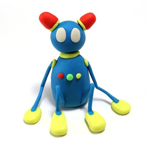 робот из пластилина пошагово