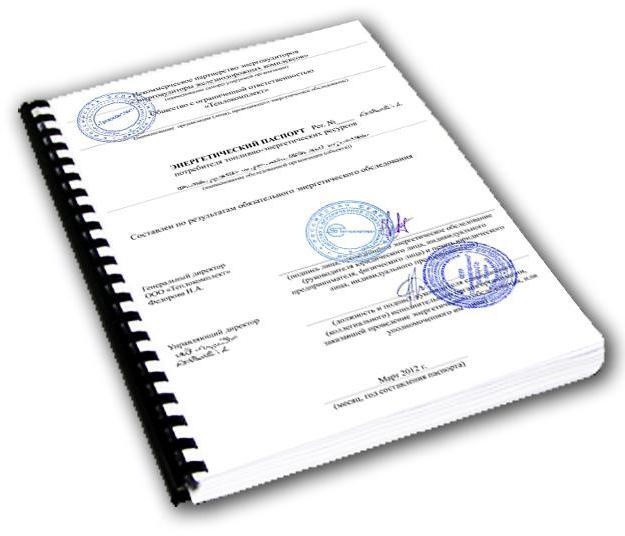 Срок действия энергетического паспорта предприятия