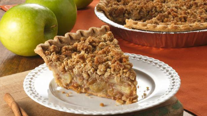 Рецепт яблоки с овсяными хлопьями