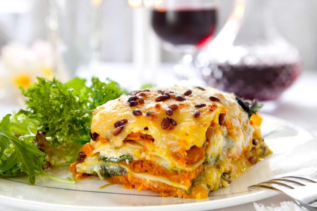 рецепт лазаньи без мяса с сыром