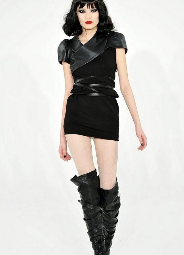 платье в стиле рок