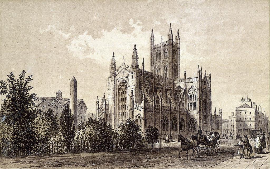 Картина с готическим замком