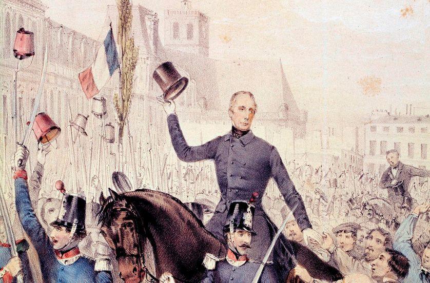 Альфонс де Ламартин на коне
