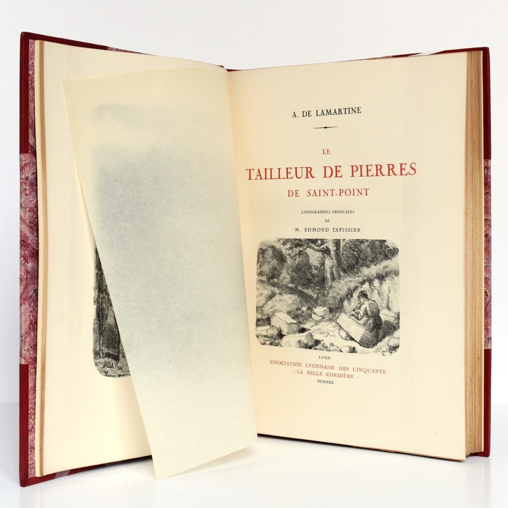 открытая книга Альфонса де Ламартина