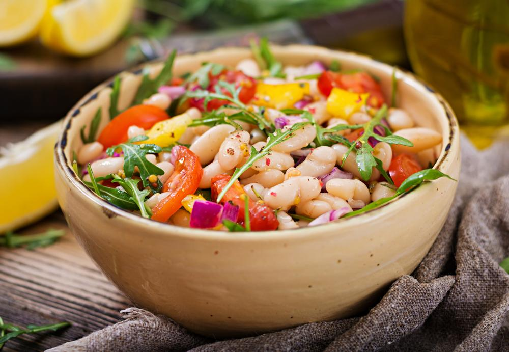 Рецепт салата с отварной красной фасолью