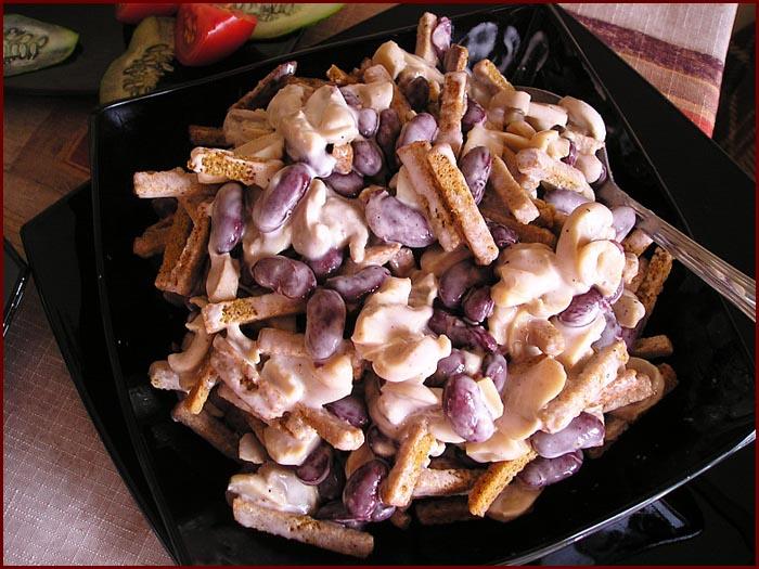 Простой рецепт салата из фасоли отварной