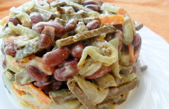 Рецепт в жж салат с отварной фасолью