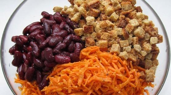 Салат с отварной красной фасолью