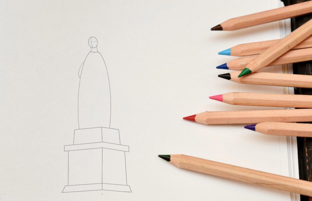 Рисуем статую Свободы - шаг 2