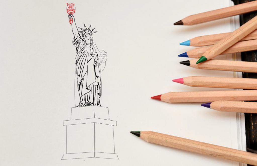 Рисуем статую Свободы - этап 11