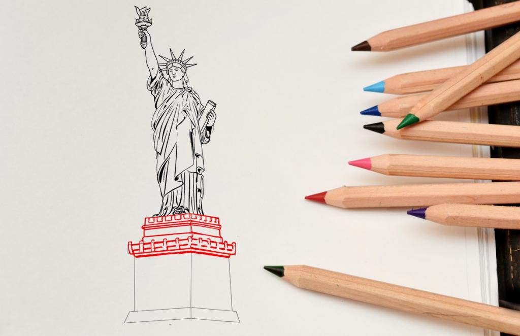 Рисуем статую Свободы - этап 13