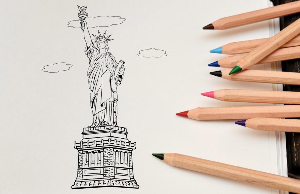 Рисуем статую Свободы - этап 14