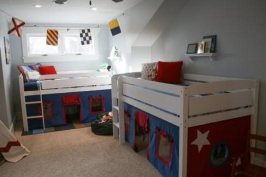 Оформление комнаты для двух мальчиков разного возраста
