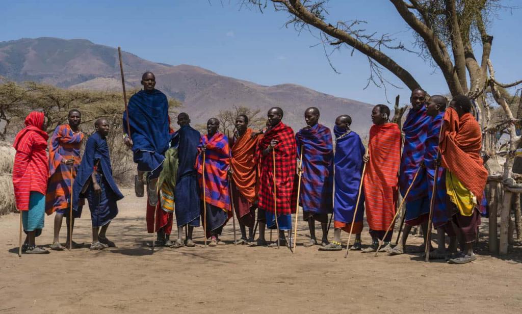 Представители племени масаи