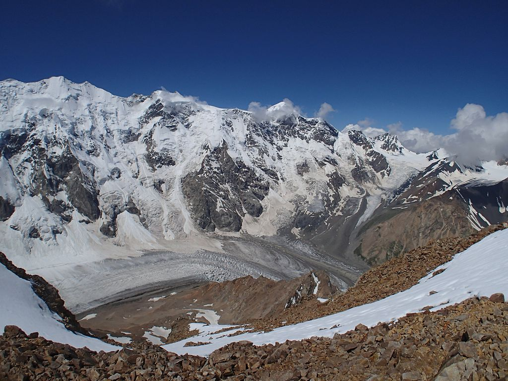 Ледниковые горные вершины
