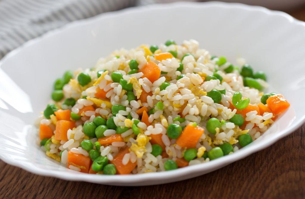 Рис с замороженными овощами на гарнир