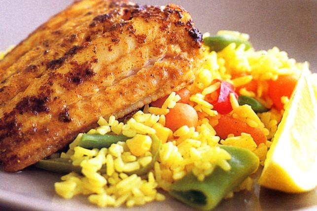 Рис с овощами на гарнир к рыбе