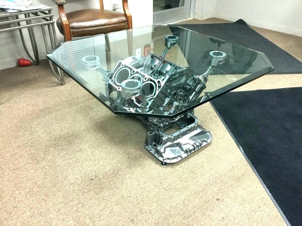 журнальный столик из блока двигателя