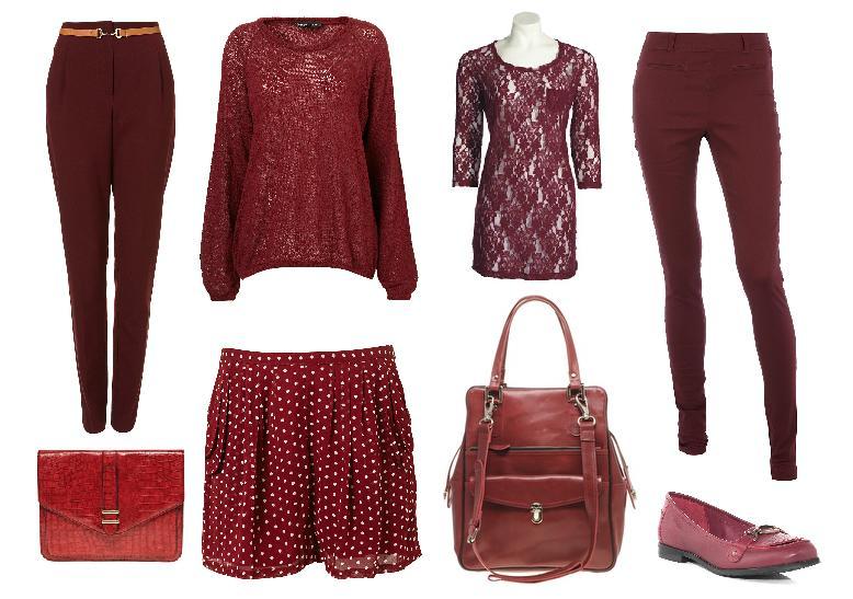 одежда бордового цвета