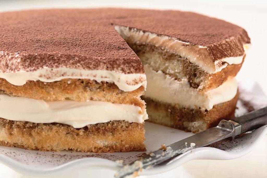 бисквит в готовом торте тирамису