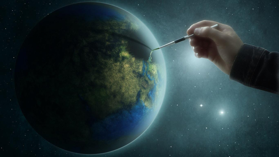 Нарисованная планета