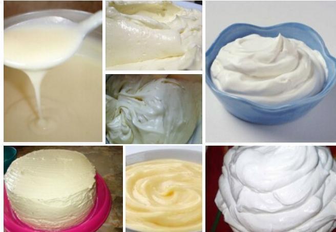 процесс приготовления крема