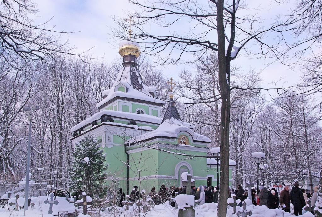 Часовня на Смоленском кладбище