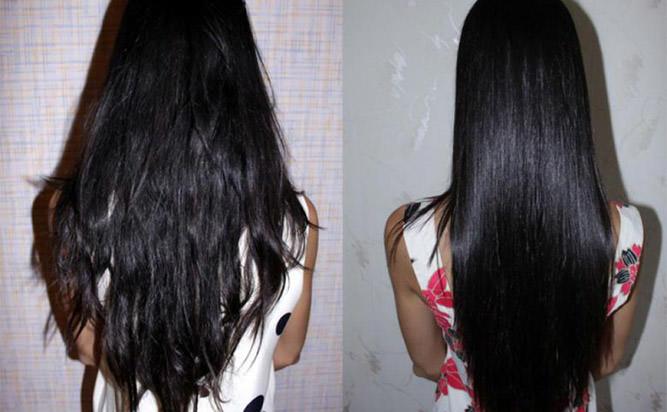 волосы после использования желатиновой маски