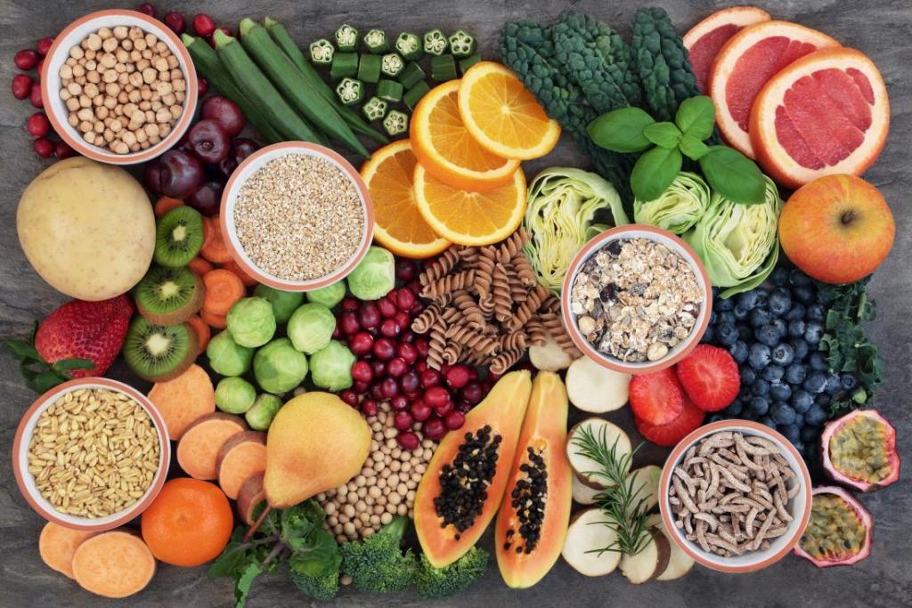 Продукты на день: фрукты