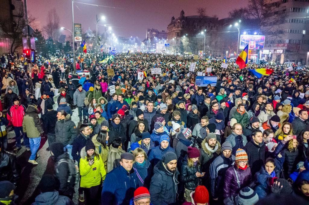 Митинги в Румынии