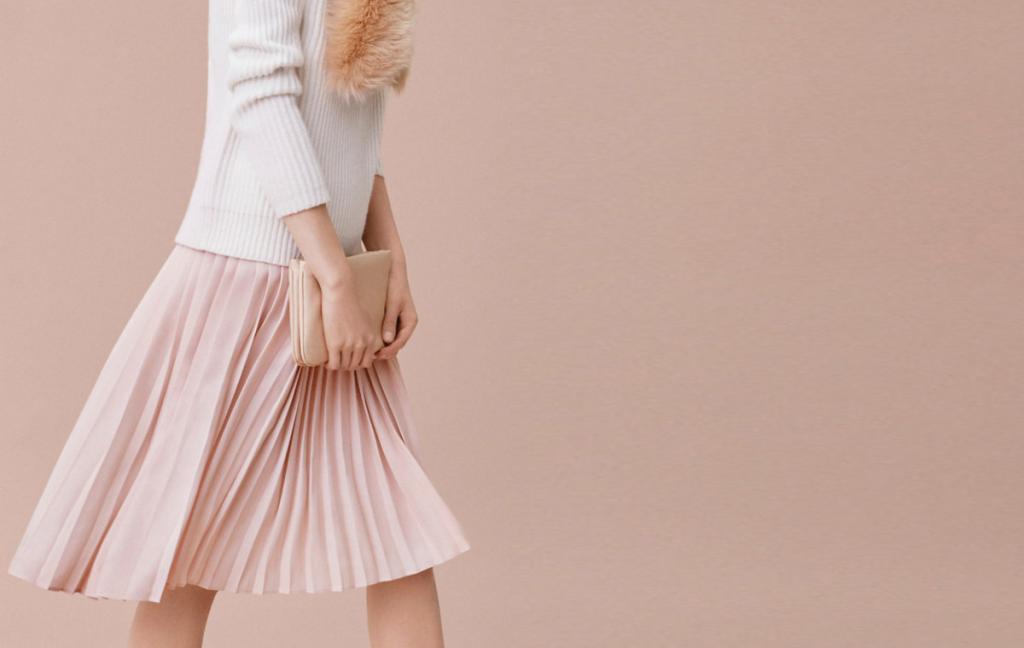 длинная юбка гармошка