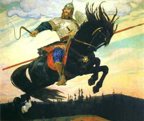 Всадник верхом на коне