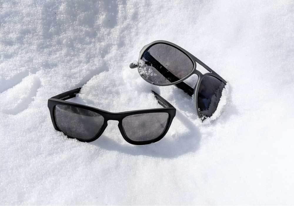 Зимние солнцезащитные очки.